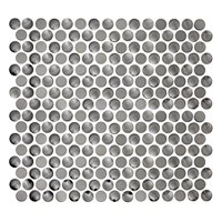 Dark Stainless Steel Multi Rounds Metal Mosaic Tile