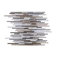 Brushed Bronze w/Glass Metal Mosaic Tile