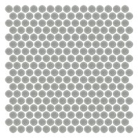Stainless Steel Penny Round Metal Mosaic Tile - 12 x 12 in