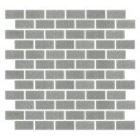 Stainless Steel Cardine Metal Mosaic Tile - 1 x 2 in