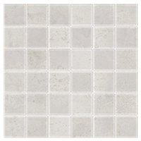 Ionic White Mosaic Porcelain Wall and Floor Tile - 2 in