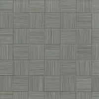 Textile Grey Mosaic Ceramic Wall and Floor Tile - 2 in