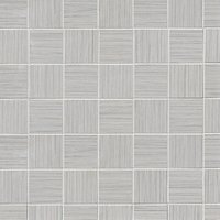 Textile White Mosaic Ceramic Wall and Floor Tile - 2 in