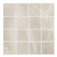 Kashmir Hueso Pol Porcelain Mosaic Wall and Floor Tile - 3 in