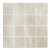 Kashmir Hueso Matte Porcelain Mosaic Wall and Floor Tile - 3 in