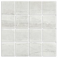 Kashmir Perla Matte Porcelain Mosaic Wall and Floor Tile - 3 in