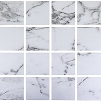 Venato Blanco Matte Porcelain Mosaic Wall and Floor Tile - 3 in
