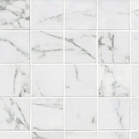 Venato Blanco Pol Porcelain Mosaic Wall and Floor Tile - 3 in