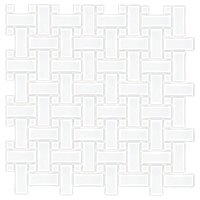 Basketweave Matte White with Porcelain Mosaic Tile  The Shop