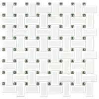 Basketweave Matt White w  Grey Porcelain Mosaic Wall and Floor Tile The Shop