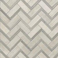 Pennellato Bianco Grigio Mix Freccia Porcelain Mosaic Wall and Floor Tile