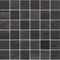 Patchwood Charcoal Porcelain Wood-Look Mosaic Wall and Floor Tile - 2 x 2 in