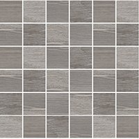 Patchwood Ash Porcelain Wood-Look Mosaic Wall and Floor Tile - 2 x 2 in