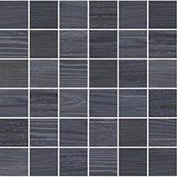 Patchwood Deep Ocean Porcelain Wood-Look Mosaic Wall and Floor Tile - 2 x 2 in