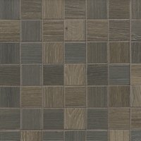 Patchwood Earth Porcelain Wood-Look Mosaic Wall and Floor Tile - 2 x 2 in