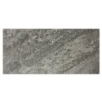 Slate Silver Porcelain Floor Tile - 12 x 24 in