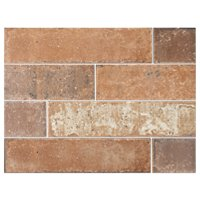 Bricklane Red Porcelain Wall and Floor Tile - 3 x 12 in