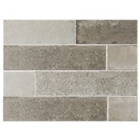 Bricklane Olive Porcelain Wall and Floor Tile - 3 x 12 in