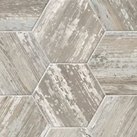 Suomi Grey Hex Porcelain Wall and Floor Tile 10 x 10 in