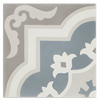 Villandry Azure Encaustic Cement Wall and Floor Tile - 8 x 8 in