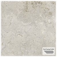Travstone Beige Outdoor Porcelain Tile Paver Pool Coping - 12 x 24 in