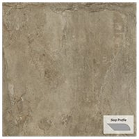 Gotham Beige Outdoor Porcelain Tile Paver Step - 12 x 24 in