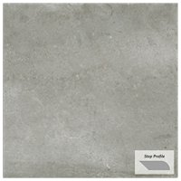 Gotham Grey Outdoor Porcelain Tile Paver Step - 12 x 24 in