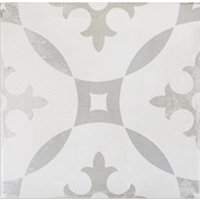 Décor Round Porcelain Wall and Floor Tile - 7.5 x 7.5 in