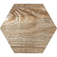 Gaugin Blue Mix Hex Wood Look Wall and Floor Tile - 10 in