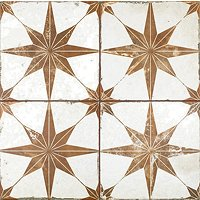 Star Oxide Ceramic Wall and Floor Tile - 18 x 18 in
