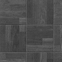 Patchwood Charcoal Porcelain Wood Look Wall and Floor Tile - 8 x 8 in