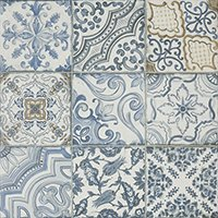 Blue Memory Porcelain Wall and Floor Tile - 24 x 24 in
