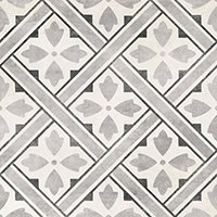Laura Ashley Mr Jones Charcoal Matte Ceramic Wall and Floor Tile - 13 x 13 in