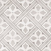 Laura Ashley Mr Jones Dove Grey Ceramic Wall and Floor Tile - 13 x 13 in
