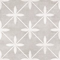 Laura Ashley Wicker Dove Grey Matte Ceramic Wall and Floor Tile - 13 x 13 in