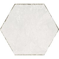 Spring Time Off-White Natural Hex Porcelain Wall and Floor Tile - 7 in