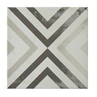 Decor Square Porcelain Wall and Floor Tile - 7.5 x 7.5 in