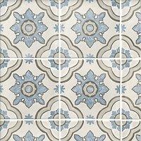 Decor Basma White Pav Porcelain Wall and Floor Tile - 8 x 8 in