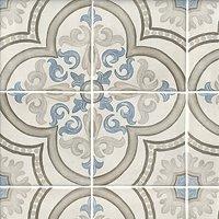 Decor Daiza White Pav Porcelain Wall and Floor Tile - 8 x 8 in