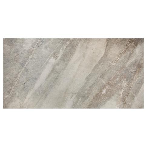 Madison Silver Porcelain Floor Tile - 12 x 24 in.