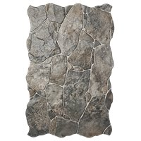 Tigris Rocks Ceramic Floor Tile - 13 x 20 in