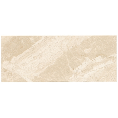 Queen Beige Polished Marble Wall Tile - 8 x 20 in.