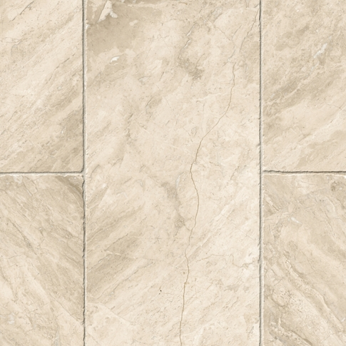 Queen Beige Tumbled Marble Floor Tile - 12 x 24 in.