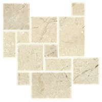 Queen Beige Tumbled Small Versailles Pattern Marble Floor Tile