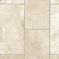 Queen Beige Tumbled Marble Floor Tile - 8 x 16 in.