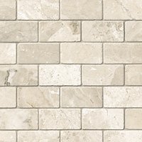 Queen Beige Tumbled Amalfi Marble Mosaic Tile - 12 x 12 in.