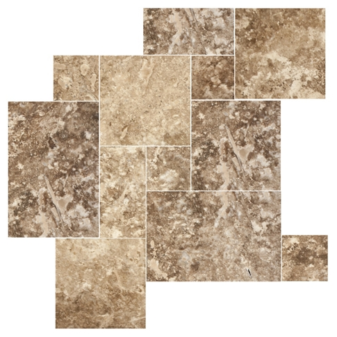 Capadocia Walnut Brushed Filled Small Versailles Pattern 9 SF