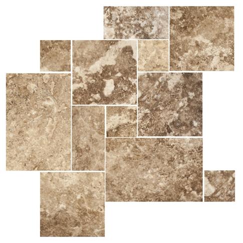Capadocia Walnut Brushed Filled Large Versailles Pattern 16 SF