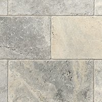 Claros Silver Tumbled Travertine Wall Tile - 8 x 15.75 in.