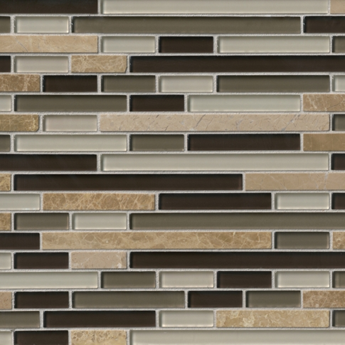Riviera Beach with Glass Stone Mosaic Tile - 12 x 12 in.